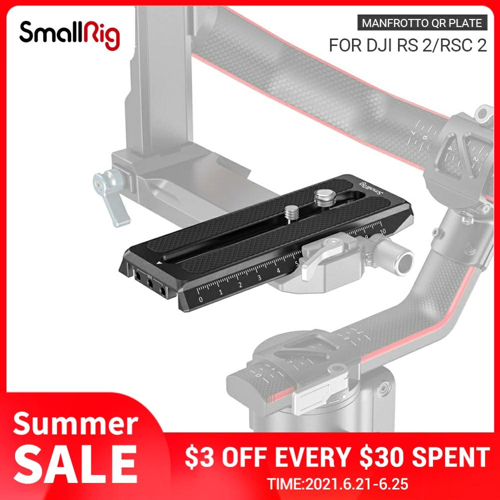SmallRig Manfrotto Quick Release Plate for DJI RS 2/RSC 2/Ronin-S Gimbal 3158B smallrig universal quick release adapter attach mini tripod monopod to gimbal stabilizer like for dji ronin s ronin sc 2714