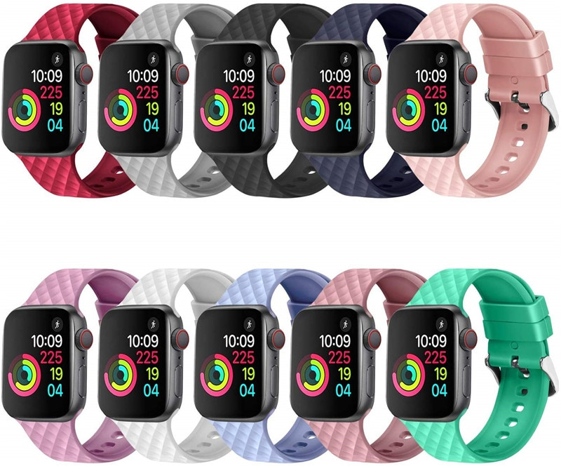 strap for apple watch 4 band 44mm 40mm iwatch 4 bands 40 mm 38mm sport silicone bracelet watchband for apple watch 5 3 2 1 42mm Silicone strap For Apple Watch band 44 mm 40mm iwatch Band 38mm 42mm Sport bracelet Rubber watchband for apple watch 5 4 3 2 1