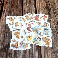 22pcs cartoon bears waterproof stickers book student label decorative stickers kids children girls toy diy diary animal stickers