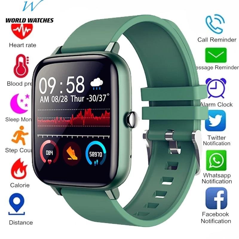 Водонепроницаемые спортивные Смарт-часы, фитнес-трекер для женщин и мужчин, Смарт-часы с пульсометром, часы-браслет с Bluetooth, звонки для Android, IOS, M