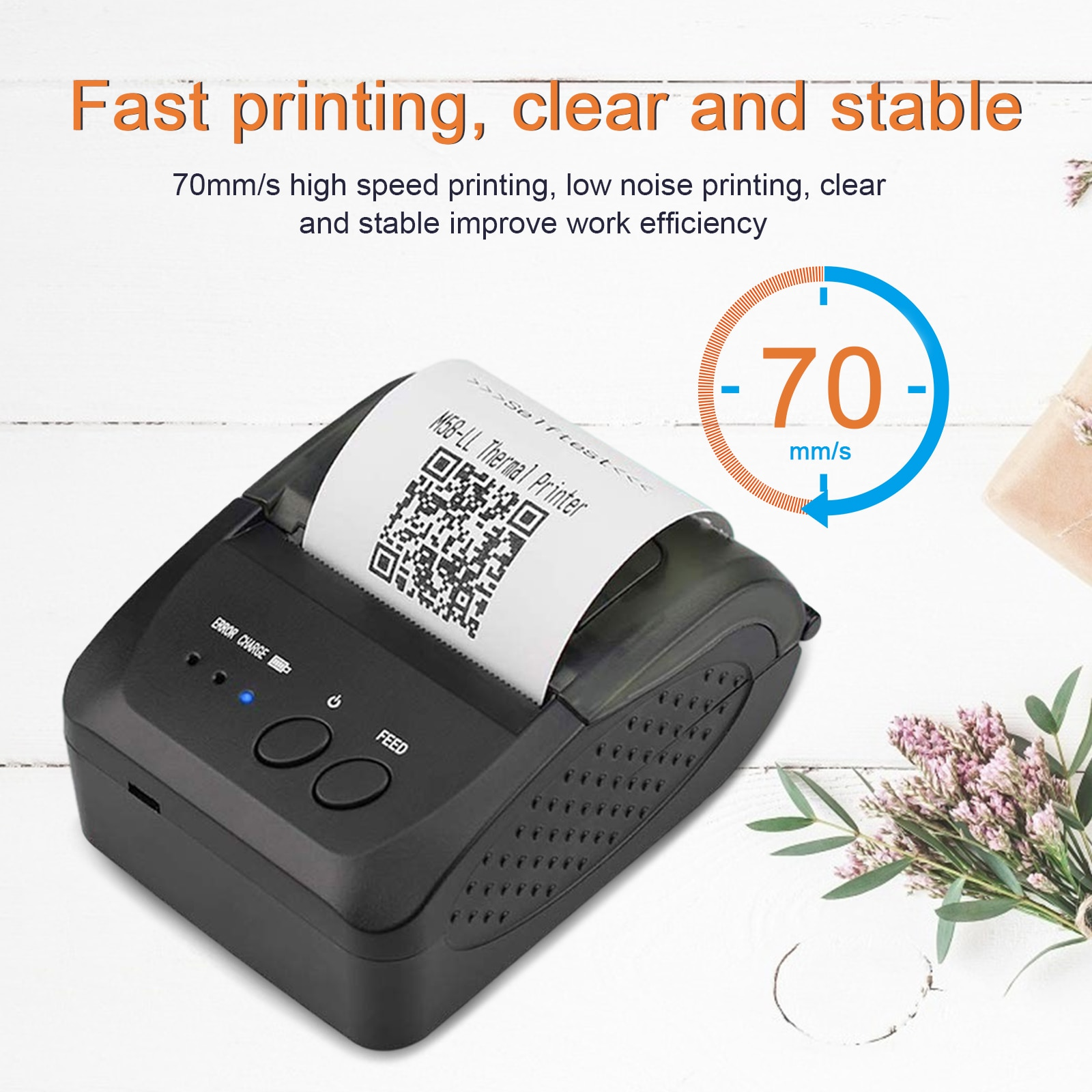 Bluetooth принтер/портативный принтер печатает Термальность УФ принтер с 6 рулонов бумаги печатания POS принтер для печати квитанций ForTaxi билет Р...