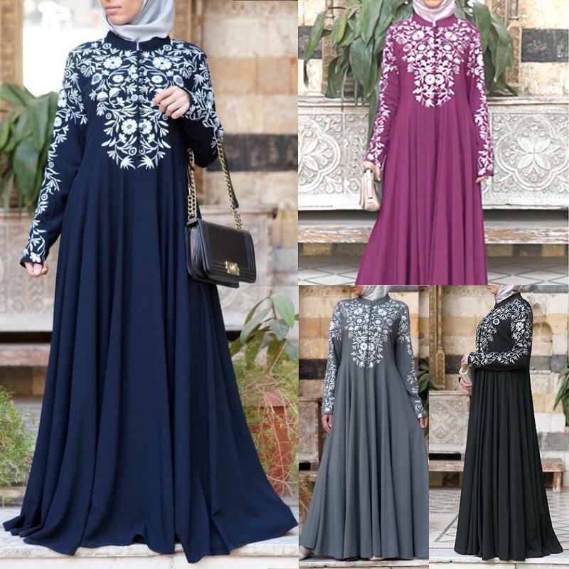 Bangladesh Abaya Kimono per Le Donne Burka Arabo Vestito di Stampa Festa Dubai Abaya Turco Caftano Abbigliamento Islamico Musulmano Delle Donne Del Vestito