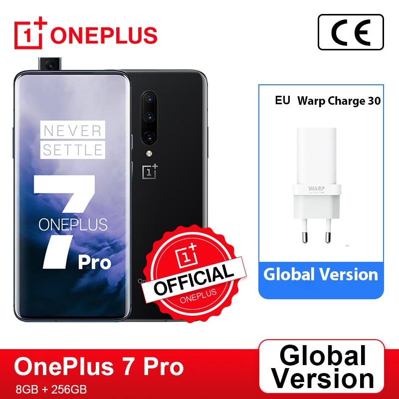 Перейти на Алиэкспресс и купить Глобальная версия OnePlus 7 Pro 8GB 256GB смартфон 48MP тройной камеры Snapdragon 855 90 Гц 2K + активно-матричные осид, Экран OnePlus официального магазина Carter's