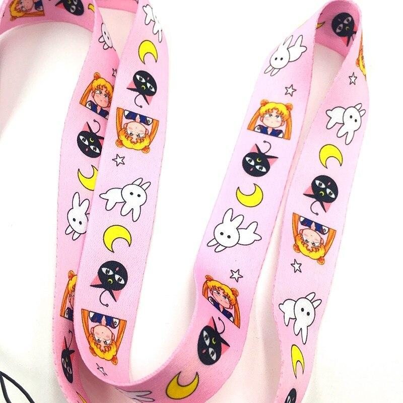 Popular teléfono móvil Sailor Moon, correa para el cuello, llaves, cámara, tarjeta de identificación, cordón para iPod iPhone 11 Pro Galaxy 10 1 unidad