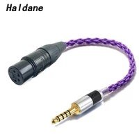haldane hifi carbon fiber 4 4mm balanced male to 4 pin xlr balanced female audio adapter cable 4 4mm to xlr connector cable