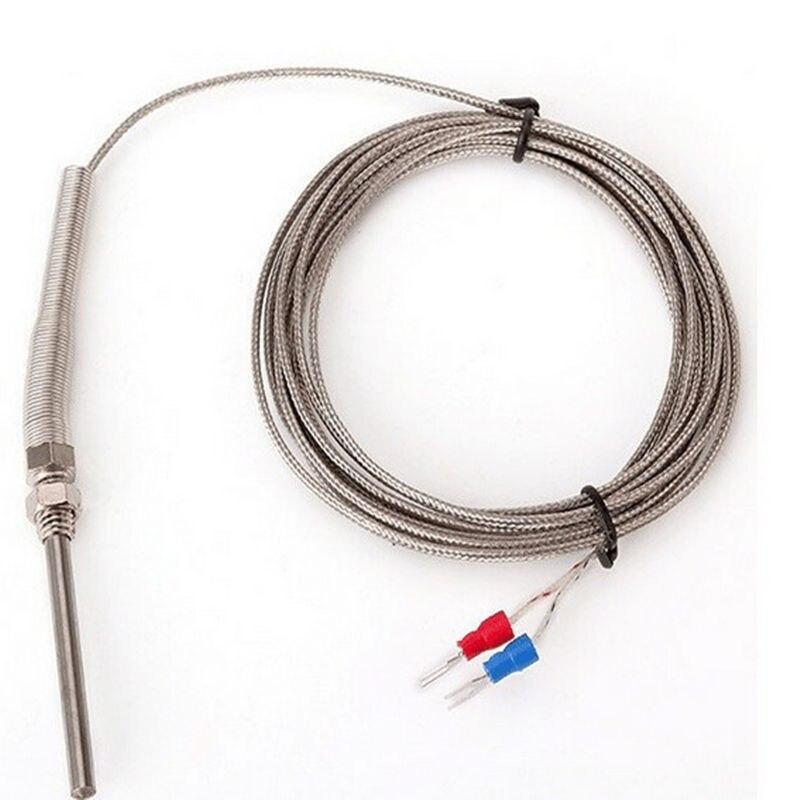 K type Thermocouple Stainless Steel probe Thermocouple 100mm 50mm 3m Cable Wire Length,Thermocouple 0~400C Temperature Sensor