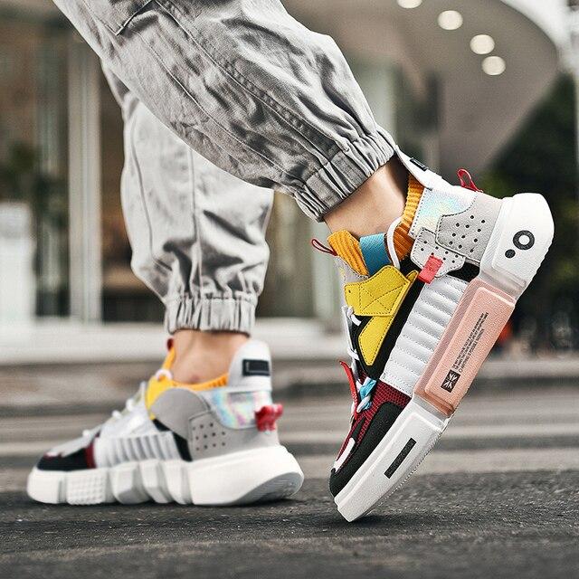 Autumn Fashion Colourful Men's Luxury Sneakers Trending Men Casual Shoes Hot Sale Breathable Chunky Shoes Men Zapatillas Hombre 4