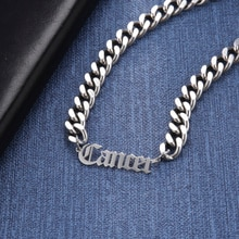 Lemegeton Cuban Chain Custom Name Necklaces For Men Personalized Stainless Steel Choker Necklace Hip