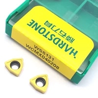 100 original ws5131 wcmx040208 carbide inserts cnc lathe cutter for steel turning tools for wc type u drill bit tool