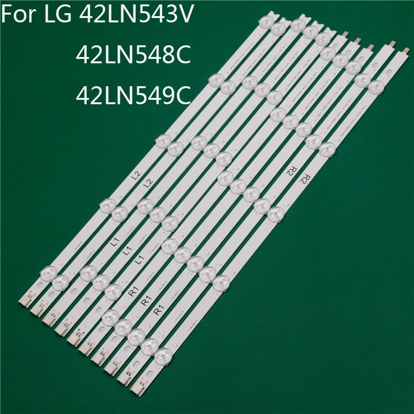 شريط إضاءة تلفزيون LED ، شريط إضاءة LED ، مسطرة خط 42 بوصة ، لـ LG 42LN549C 42LN543V 42LN548C ، ROW2.1 0.01 L1 R1 R2 L2