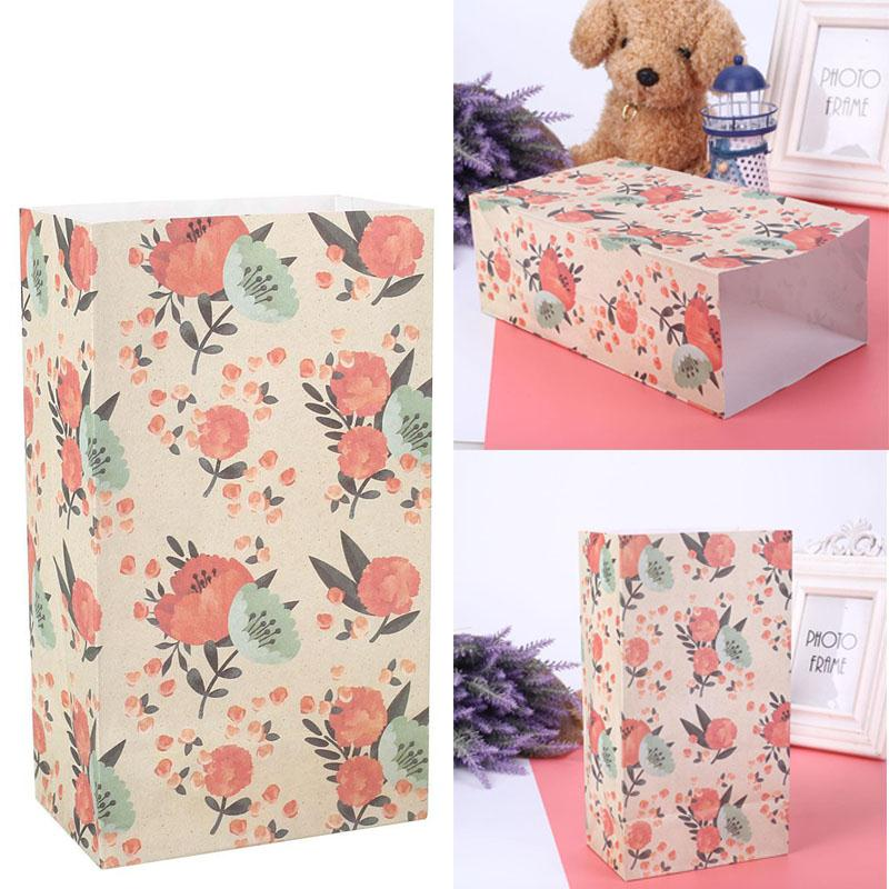 4pcs/Set Party Supplies with Stickers Label Beautiful Practical Floral Present Bag Gift Bag Holder P