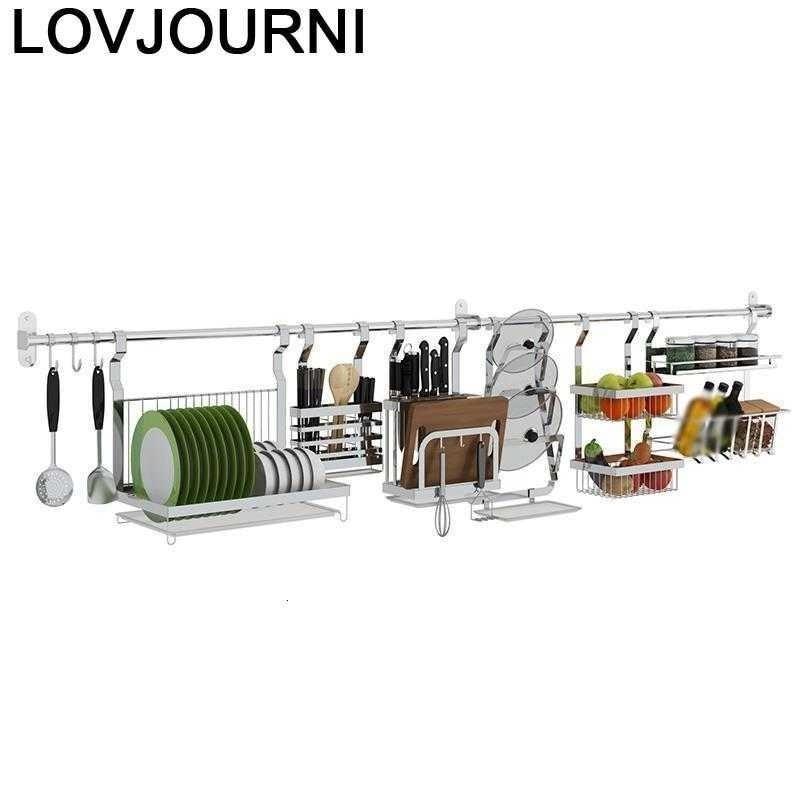 Cosinha طبق تجفيف منظم Cosina Kuchnia المطبخ الفولاذ المقاوم للصدأ Cocina contador mufak تخزين المطبخ حامل أرفف