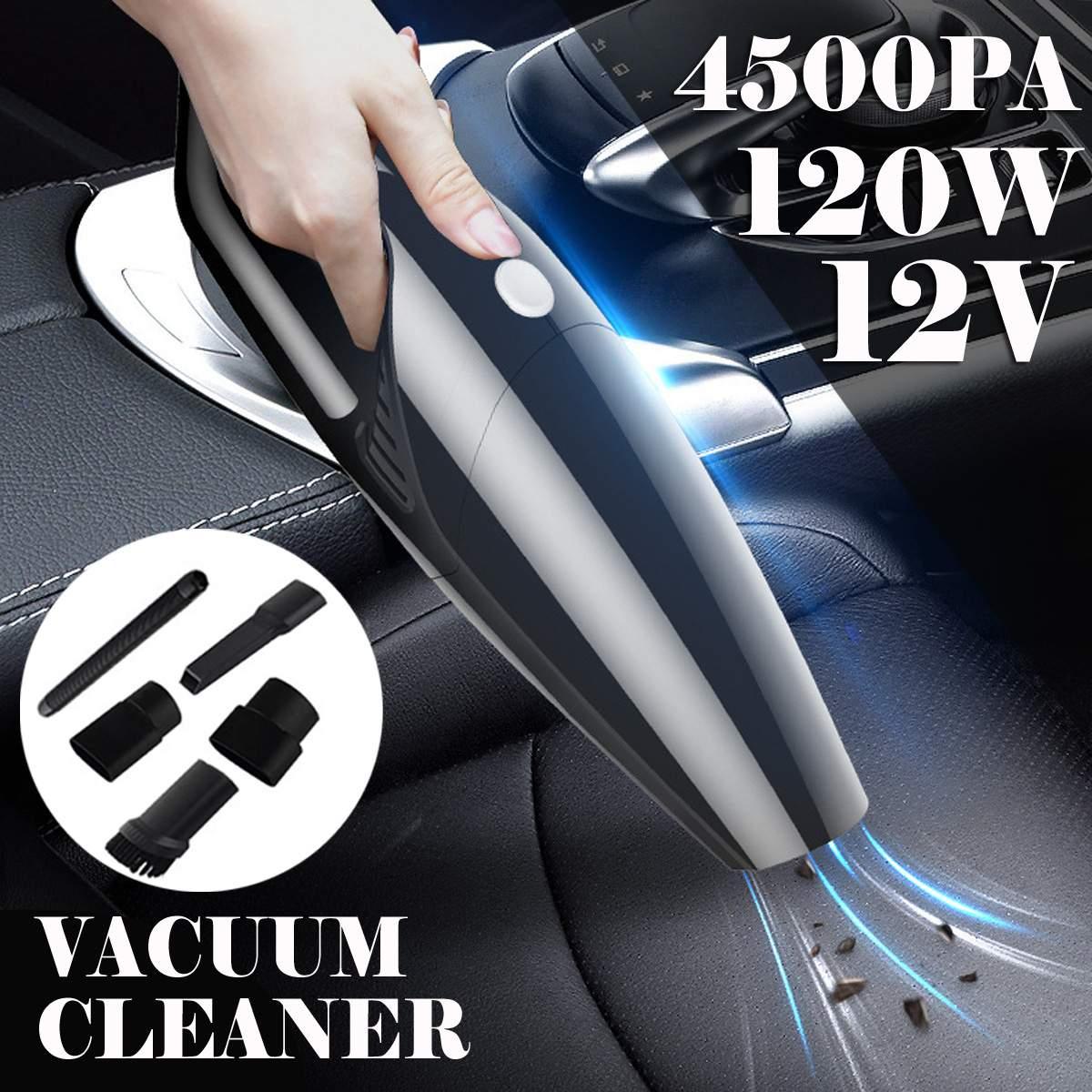 4500Pa 120W inalámbrico con cable de mano aspiradora fuerte potencia aspiradora Mini portátil para coche Auto hogar
