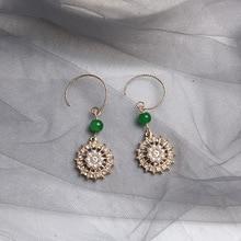 Heureusement, Hao Shi – boucles doreilles rétro en perles, bijoux de mode élégants, de tempérament français, vente en gros