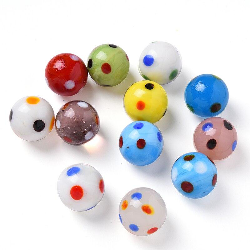 12 шт., стеклянные шарики, 20 мм