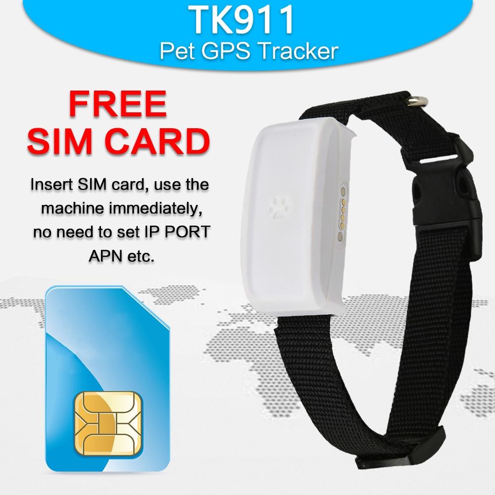 Mini TKSTAR gps wifi waterproof dog cat pet collar gps tracker TK911 GPS +WIFI+AGPS Locator long Standby Time Free App Web