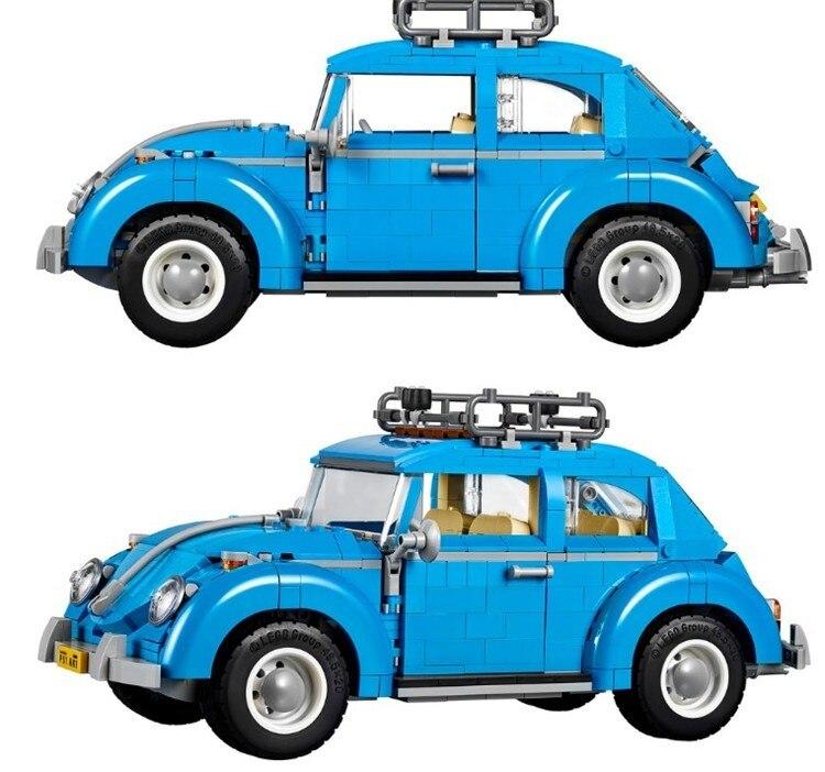 1193 pçs 10252 série criador cidade carro volkswagen beetle modelo blocos de construção compatível lepining