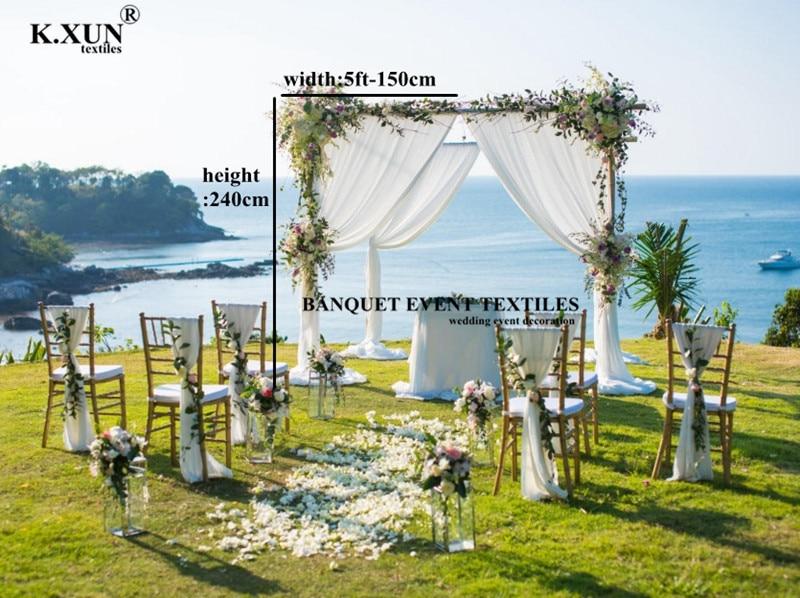 Gran oferta de 1,5x2,4 m telón de fondo la puerta cortinas para boda de seda de hielo etapa Fondo boda fiesta Decoración