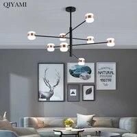 Moderne LED or lustre lumieres pour salon chambre a manger hauteur reglable lampes creatif maison deco Luminaire