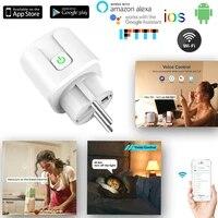 Prise Wifi intelligente automatique  16a  100-240V  adaptateur pour maison connectee  avec Assistant Alexa  Google