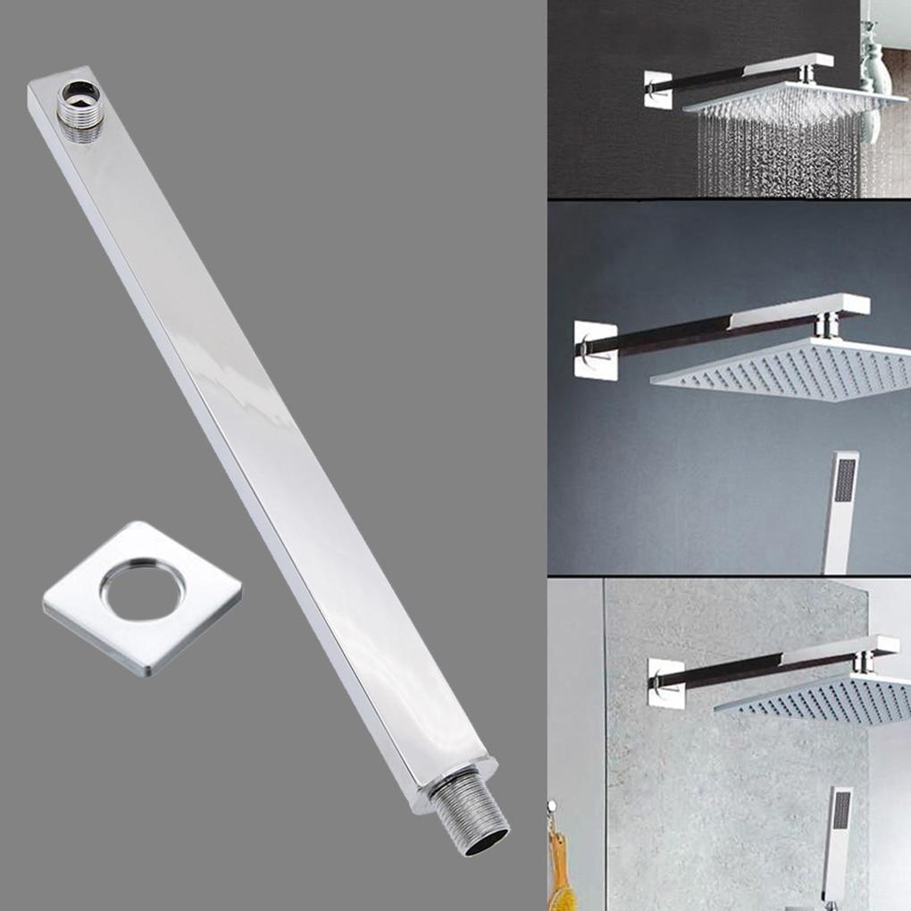AliExpress - 45cm Shower Arm Bath Square Wall Mounted Rainfall Showerhead Arm Black Brass Extension Tube Bathroom Pipe Accessories 35cm 1pcs