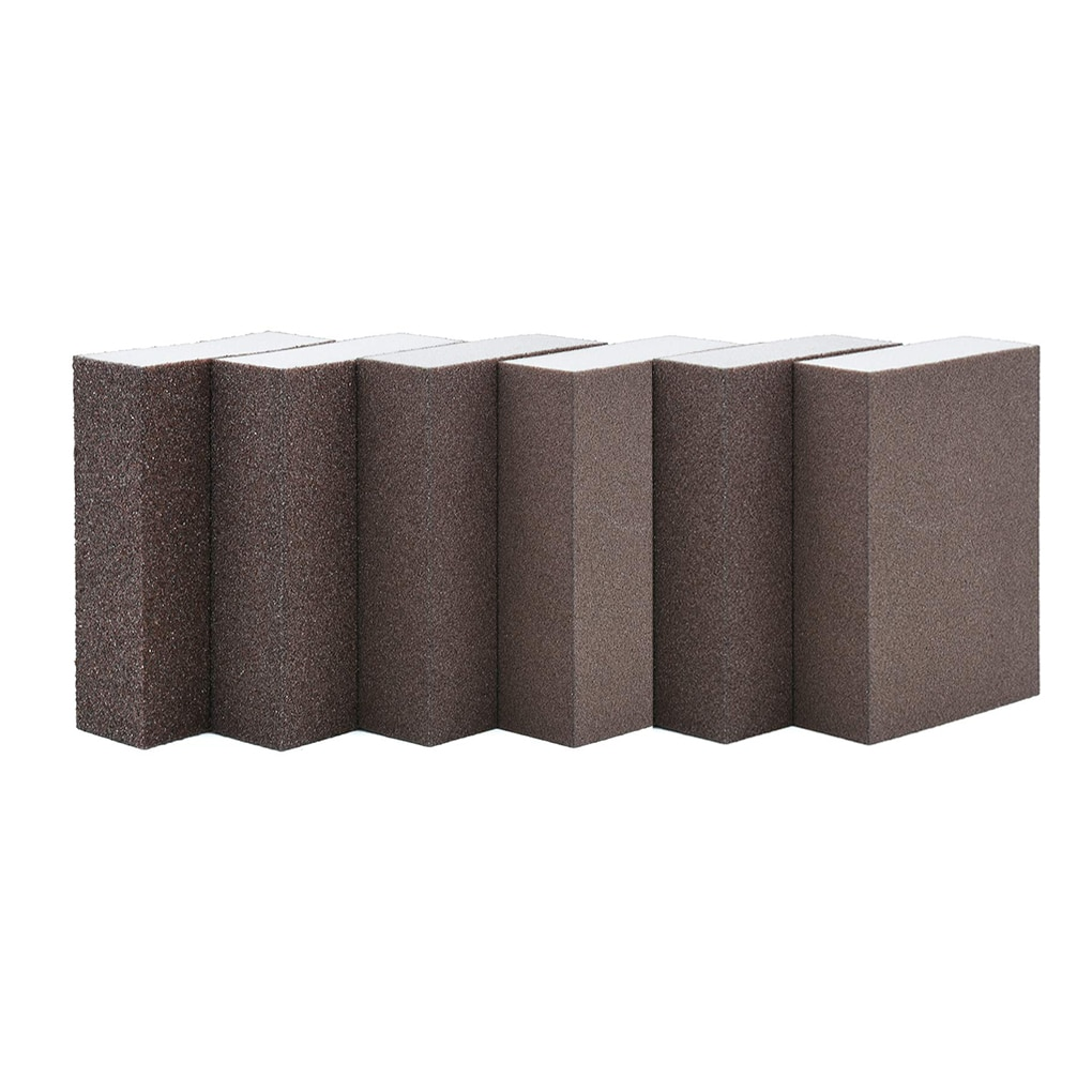 6pcs/set Drywall Polishing Sanding Sponge Block Rough Medium Fine Super fine Sandpaper Sander Tool