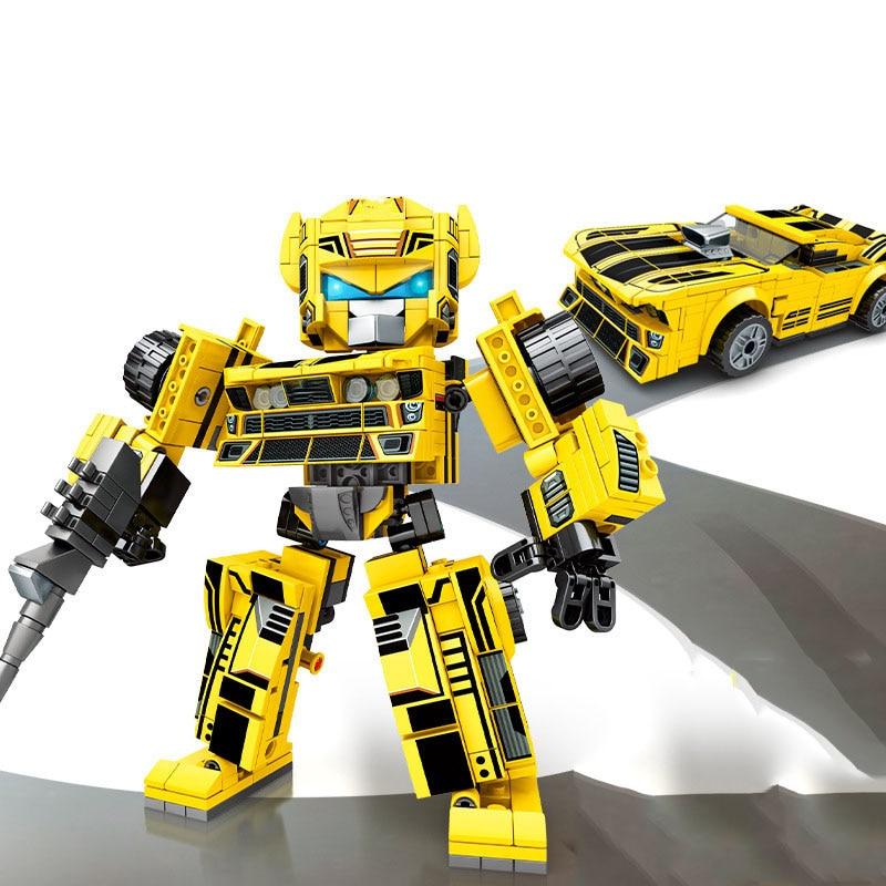 City Mecha Deformation Movie Guard Robot Model Building Block Technical Transformation Robot Brick Set Kids Educational Toy Gift