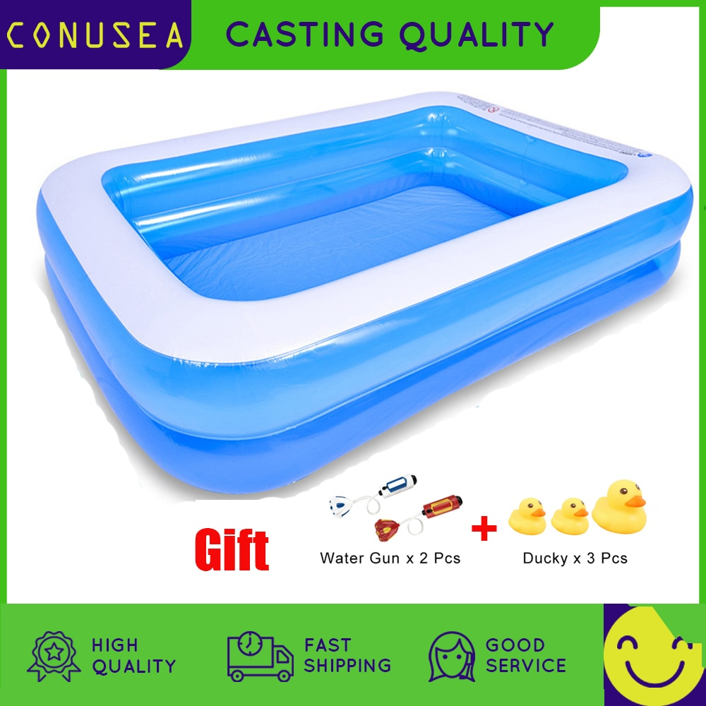 2M /3M Big Inflatable Swimming pool Large pools for family Thicken PVC Paddling Bathing Tub Outdoor Summer Kids Water toys kids