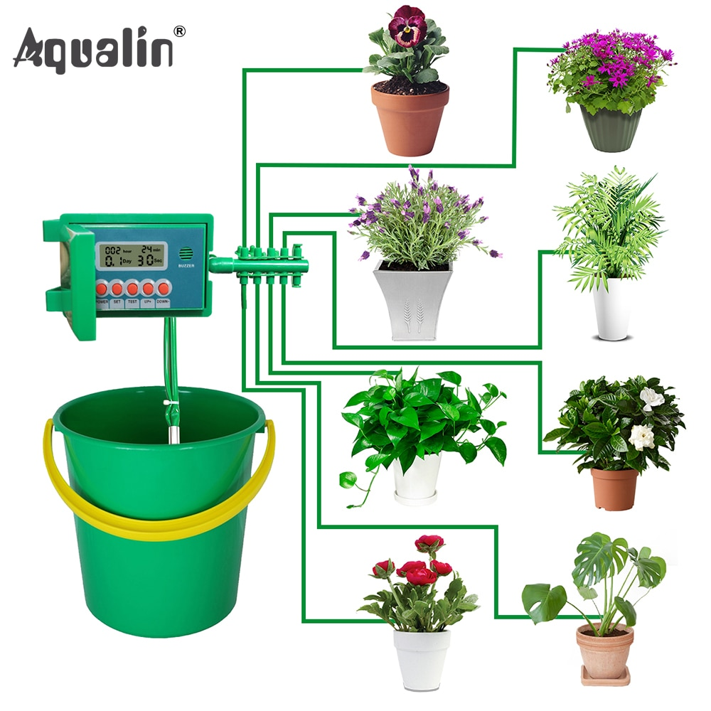 AliExpress - Automatic Micro Home  Drip Irrigation Watering Kits System Sprinkler with Smart Controller for Garden,Bonsai Indoor Use #22018
