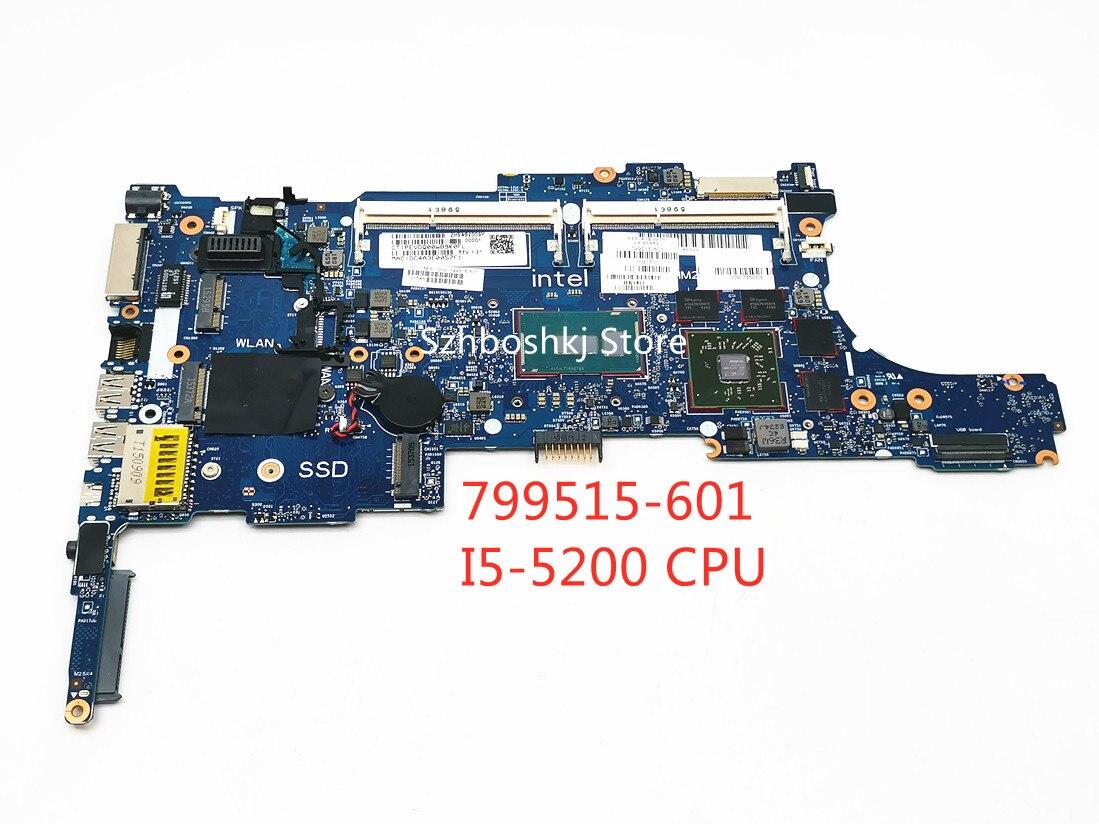 اللوحة المحمول 799515-601 ل HP بي EliteBook 840 G2 850 G2 مع SR23Y I5-5200 CPU 799515-001 799515-601 نظام مجلس اختبار موافق