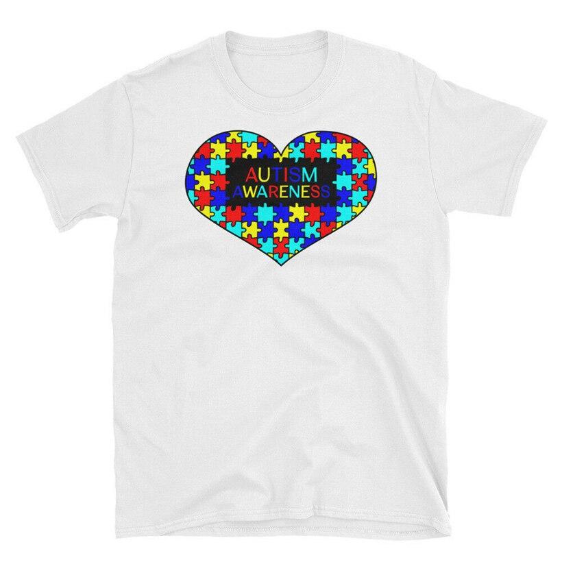 Concientización del autismo Camiseta de manga corta Unisex camiseta hombres ropa Tops