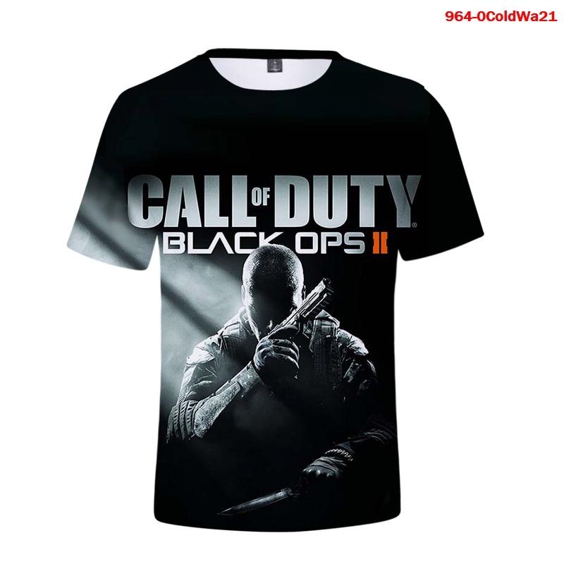 Camiseta 3d de Call of Duty para hombre y mujer, blusa negra...