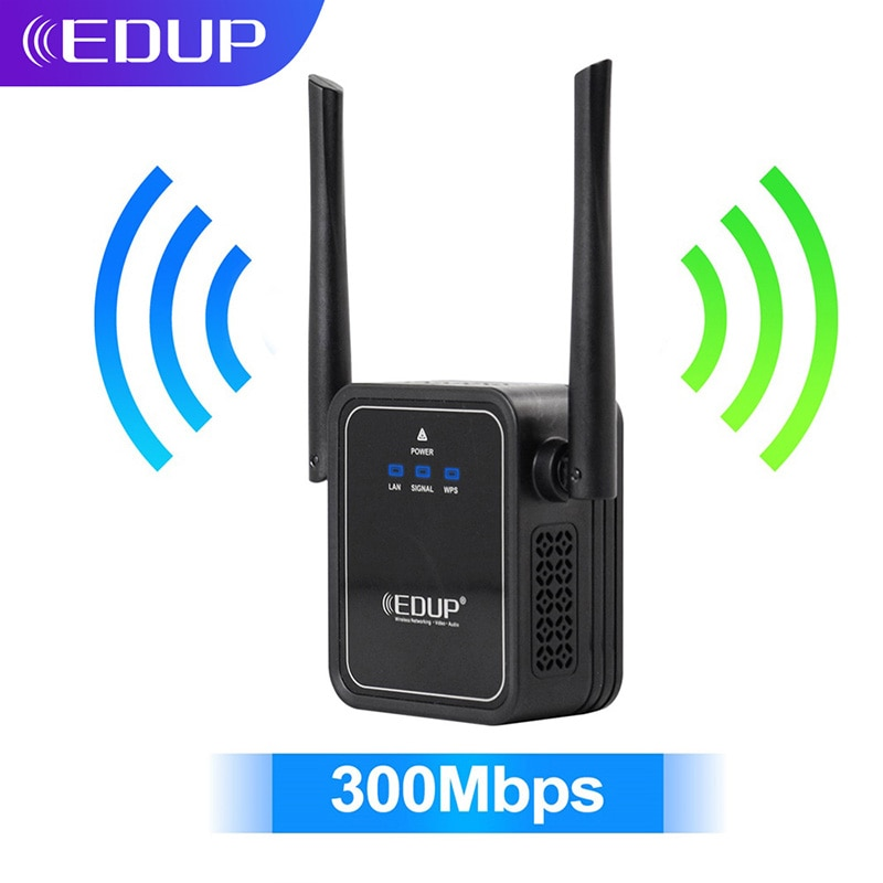 EDUP 300Mbps WiFi Repeater Wireless Network Extender Wifi Extender Signal Amplifier Signal Booster Repetidor