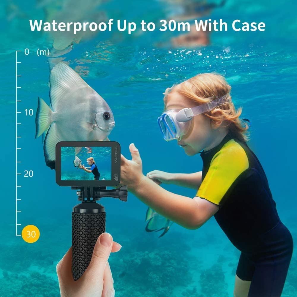 VanTop Moment 5C Native 4K 60fps Action Camera Touch Screen WiFi  170° FOV Waterproof Video Recording  Sport Cam With EIS