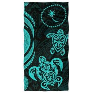 Банное и пляжное полотенце HUGSIDEA, полинезийское морское полотенце с принтом черепахи, сильно Впитывающее Воду полотенце для спортзала, пляжные полотенца
