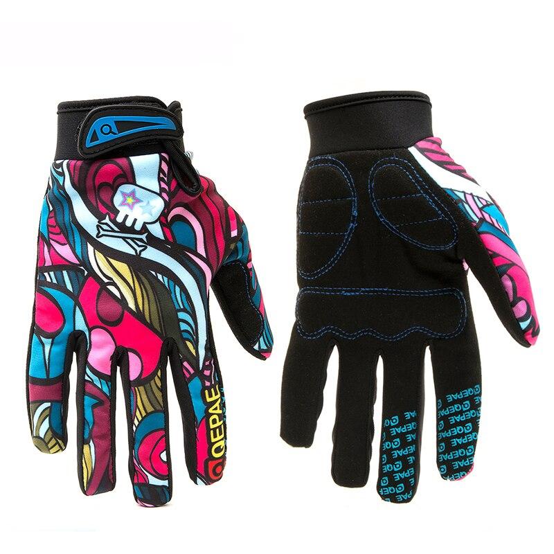 Guantes de bicicleta de moda BMX MTB guantes de moto hombre mujer niños transpirables deportes al aire libre ciclismo carrera guantes coloridos