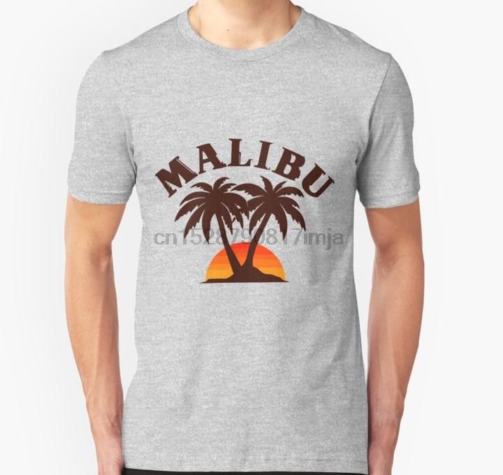 Camiseta para hombre Malibu California camiseta para mujer camiseta camisetas top