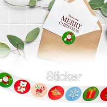 Christmas Favors Stickers Holiday Decorations Roll Party Supplies Christmas Gift Decoration