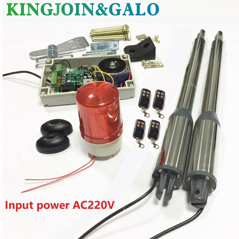 Automatic electric swing gate opener motors for 300kg gate 4 remote controls 1 strobe lamp 1 gate photocell недорого