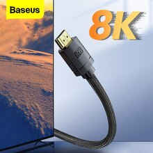 Baseus 8K HDMI-Kompatibel Cablefor Xiaomi Mi Box 48Gbps Digital für PS5 PS4 HDMI-Kompatibel 2,1 kabel Splitter 8K/60Hz Kabel