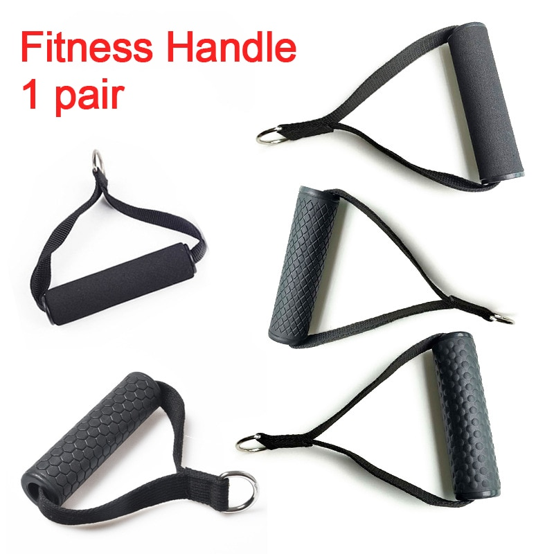 Home Gym Lat Pull Down Handle Portable Fitness Sport Training Sponge Grips Triceps Rope Pully Cable Machine Equipment Attachment