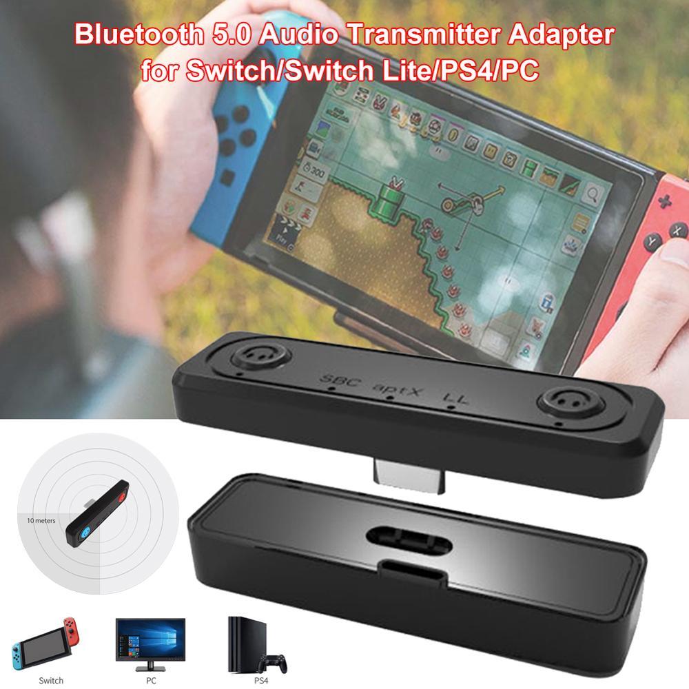 Adaptador de transmisor de Audio Bluetooth 5,0 para Switch/Switch Lite/PS4/PC, APTX baja latencia emparejamiento Dual para dos auriculares