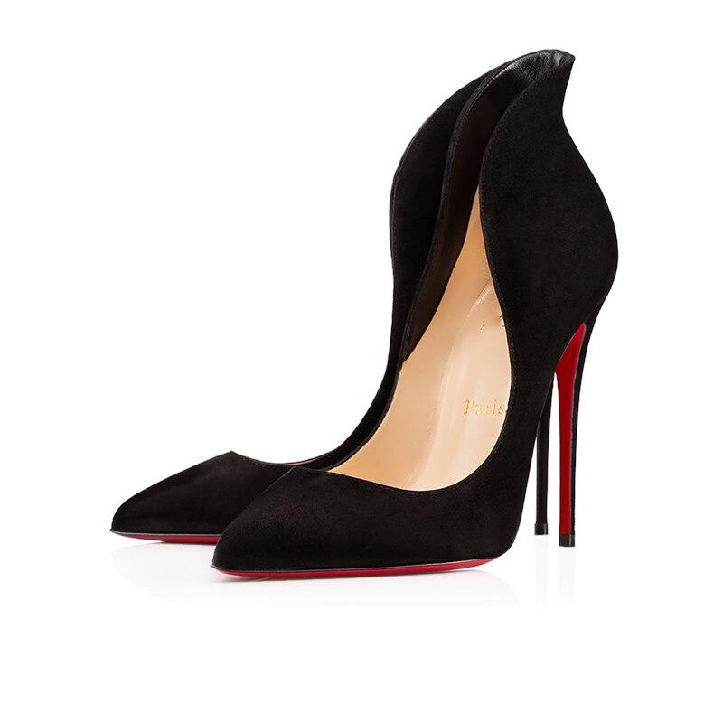 2 Color Luxury Pumps Sexy Platform Clear Women High Heels 8 10 12cm Ladies Mules Red Bottom Wedding