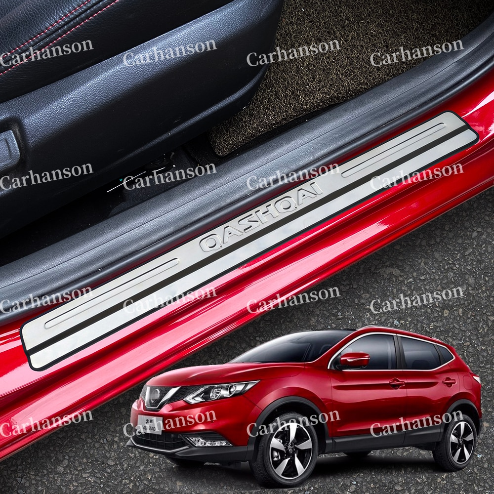 for ford kuga 2013 2014 2015 2016 door sill scuff plate cover sticker anti scratch welcome pedal protect car styling accessories For Nissan Qashqai J11 Accessories Door Sill Scuff Plate Protector Car Sticker Pedal Styling 2015 2017 2018 2016 2020 2021 2019