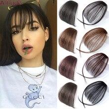 AILIADE-flequillo sintético para mujer, pieza de cabello falso, Clip en extensiones de cabello, flequillo de Aire Limpio frontal