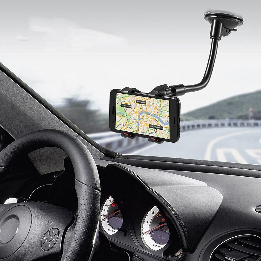Car Phone Holder Flexible 360 Degree Adjustable Car Mount Mobile Phone Holder For All phone 3.5-6 inch Support GPS