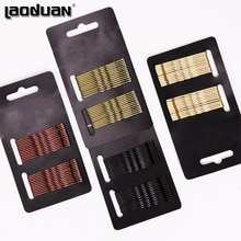 24Pcs Black Gold Pins Haarspelden Geen Kwaad Voor Haar Klassieke Eenvoud Wave Haar Clips Haar Accessoires Diy Tool