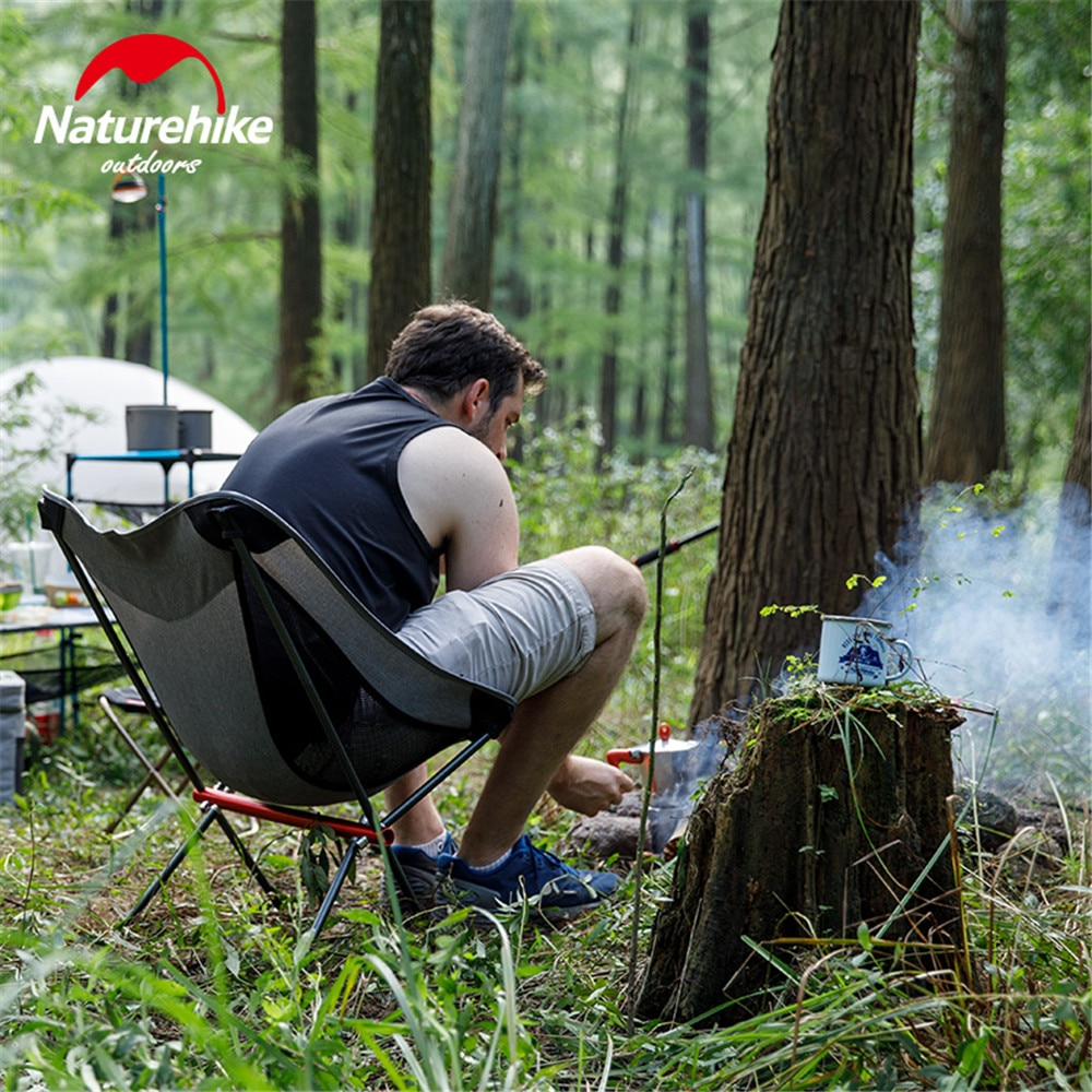 portable aluminum folding chair stool seat outdoor fishing camping picnic padded folding chair fishing Naturehike Outdoor Camping Folding Chair Leisure Folding Portable Aluminum Alloy Sketch Fishing Beach Stool Chair