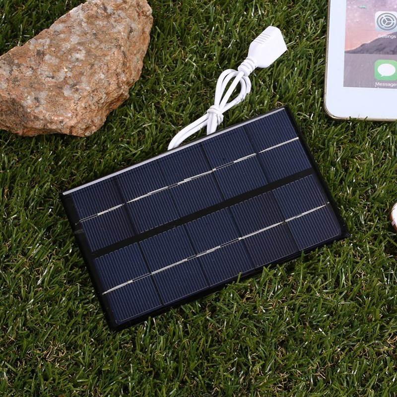 USB Solar Panel Outdoor 5W 5V Portable Solar Charger Pane Climbing Fast Charger Polysilicon Travel DIY Solar Charger Generator