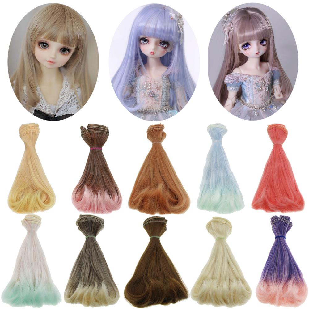 Fashion 15cm*100cm AD SD DIY Doll Wigs Hair BJD Curly Doll Hair for 1/3 1/4 1/6 High Temperature Silk Doll Accessories Toy